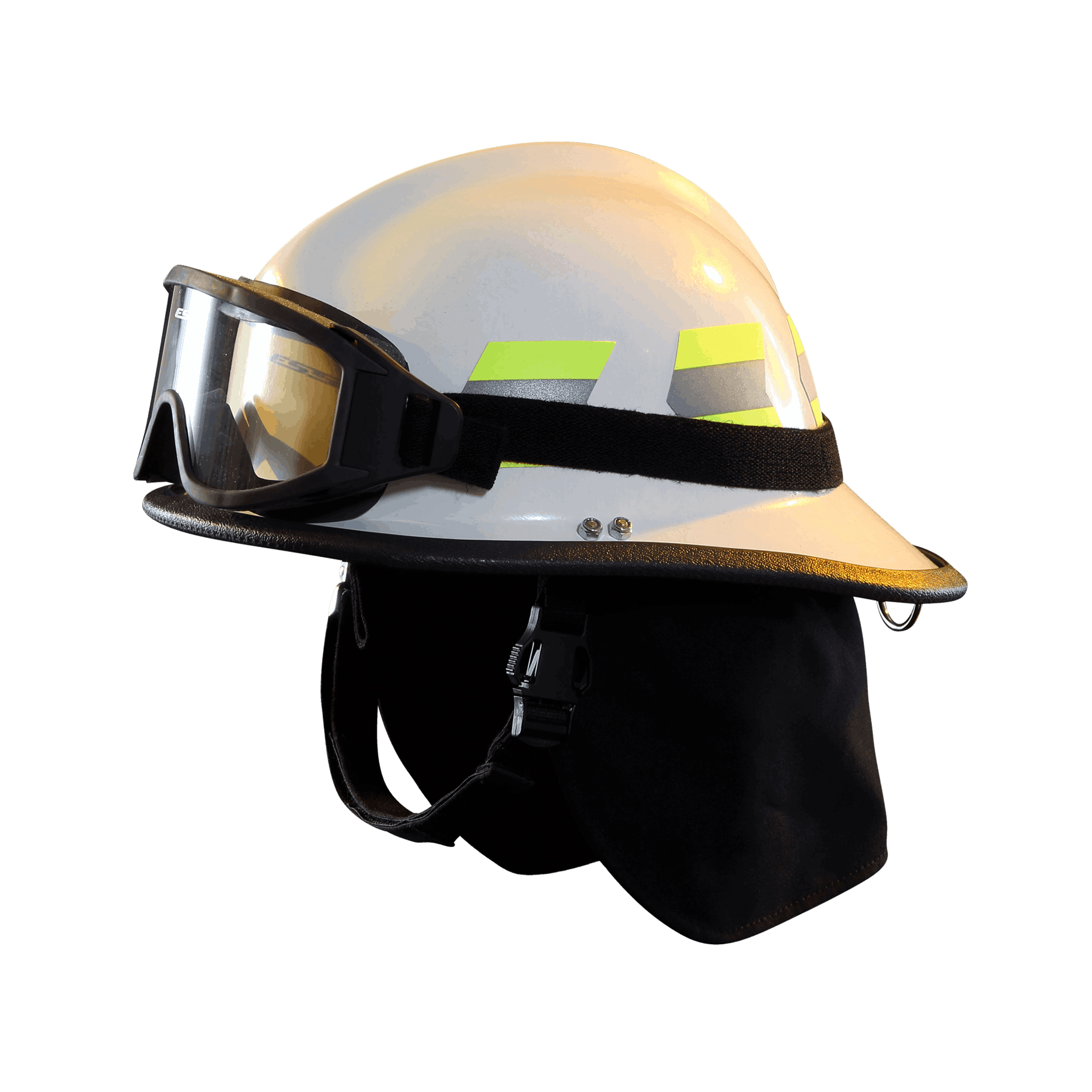 Fire-Dex Modern Helmet with goggles - white