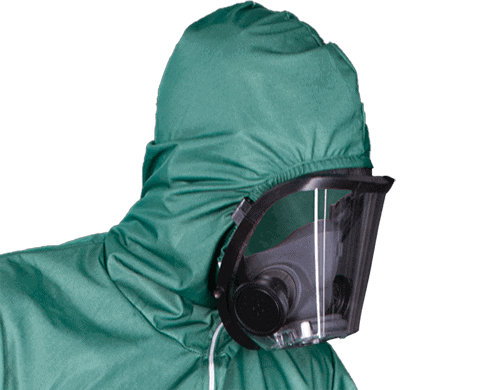 Isolation Coverall - Face Opening with SCBA