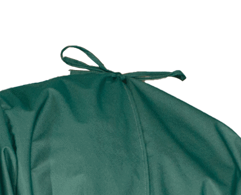 Isolation PPE Gown Tie Near Neck
