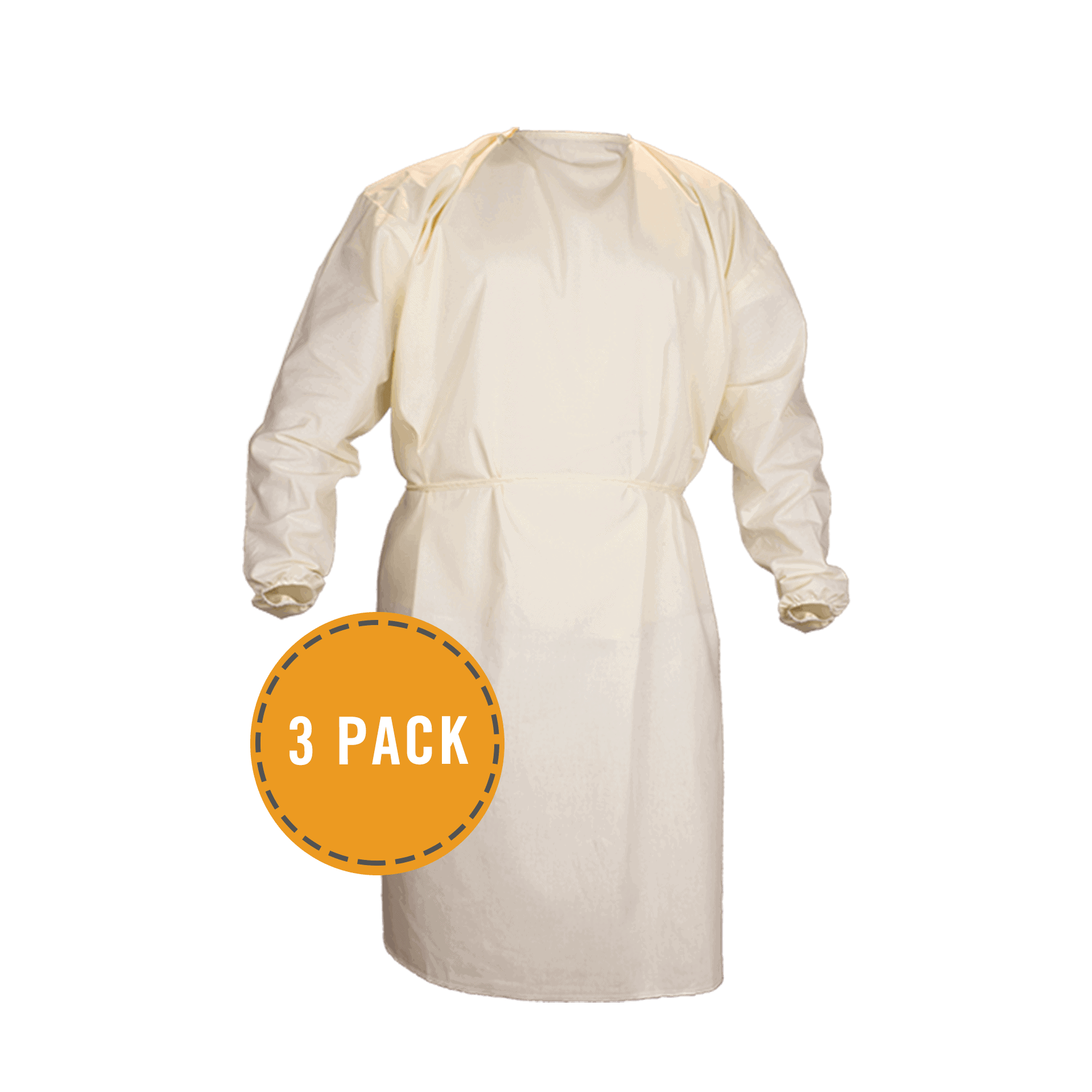Isolation Level 1 Gown 3 Pack