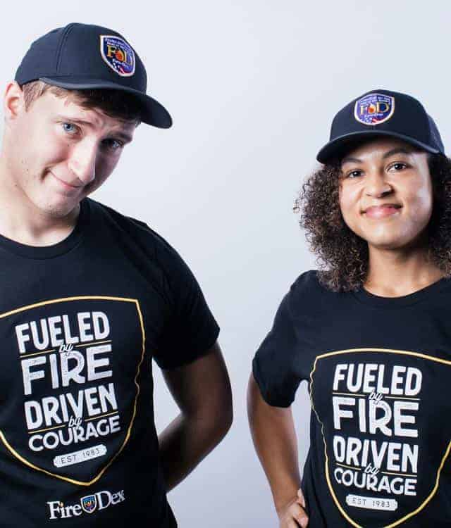 Male and Female Fueled By Fire T-Shirt