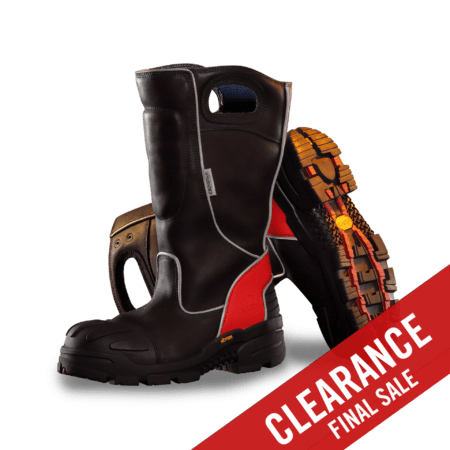 FDXL100 Red Leather Boots - Pair