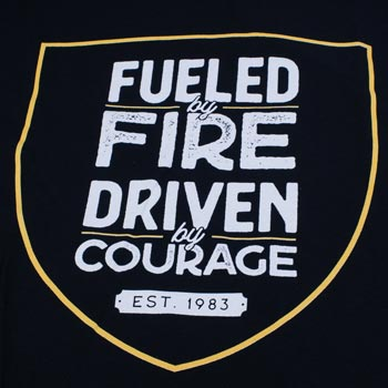 Fueled by Fire Firefighter t-shirt