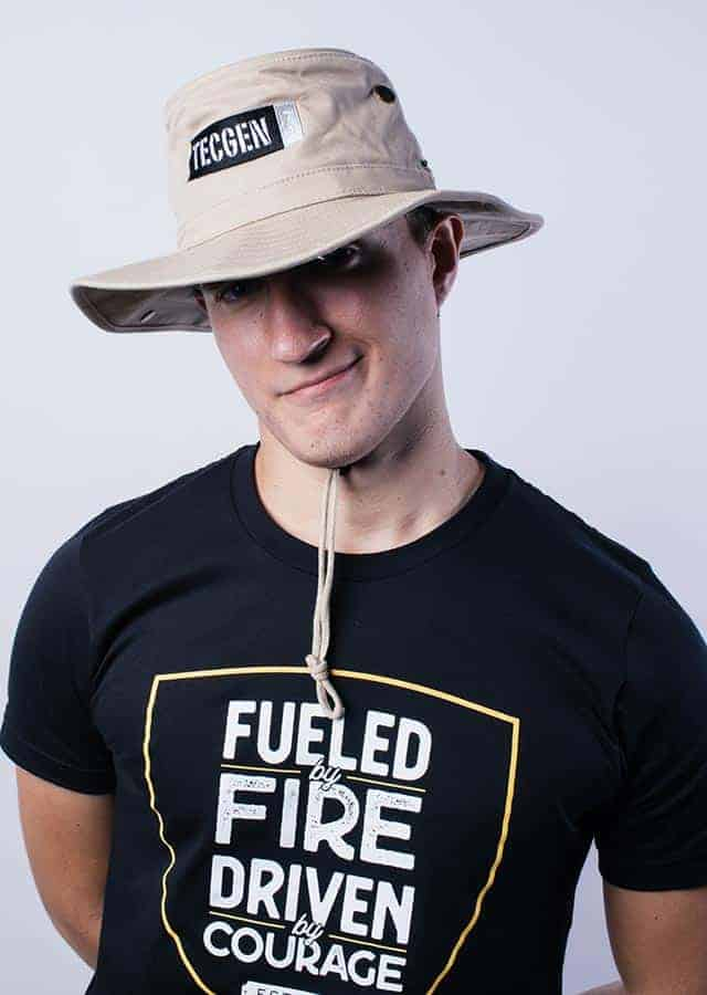 Booney Hat on Firefighter