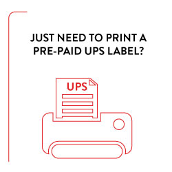UPS print label icon
