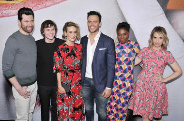 "Billy Eichner, Evan Peters, Sarah Paulson, Cheyenne Jackson, Adina Porter and Leslie Grossman at the ""American Horror Story: Cult"" Event"