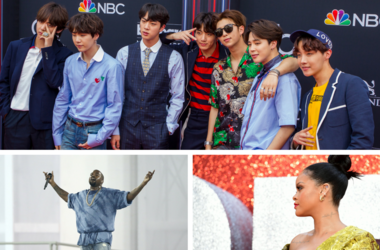 BTS, Kanye West and Rihanna