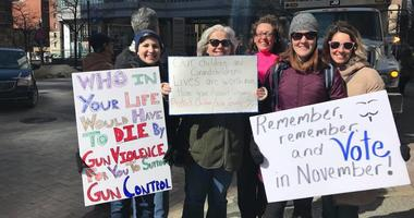 March for Our Lives Pittsburgh - Protesters Hold Signs
