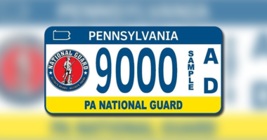 PA National Guard Plate