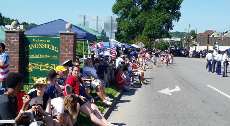 Parade watchers lined up four and five deep in spots along Pike Street to watch Canonsburg's historic 4th of July parade.