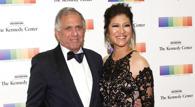 Les Moonves and his wife Julie Chen