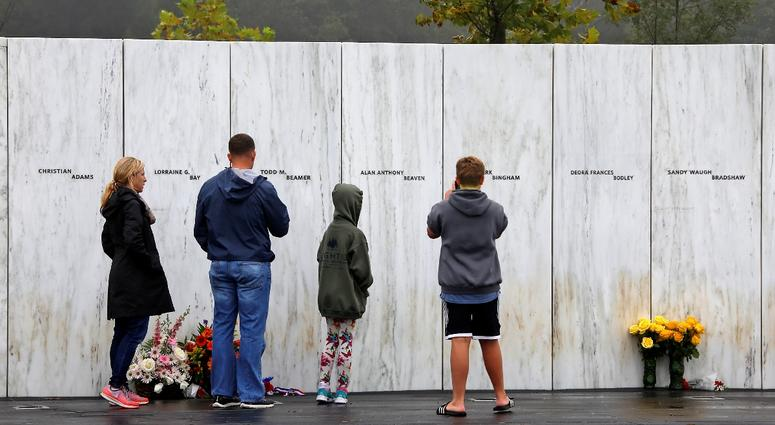 Visitors to the Flight 93 National Memorial in Shanksville, Pa.