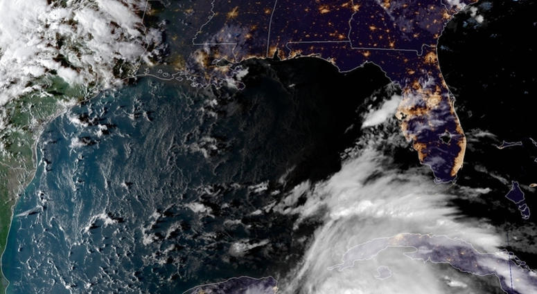This satellite image provided by the National Oceanic and Atmospheric Administration shows a view of Tropical Storm Michael