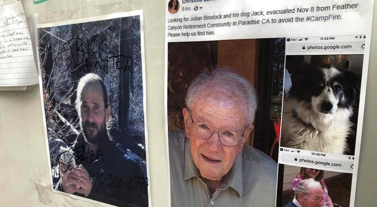 Messages are shown on a bulletin board at The Neighborhood Church in Chico, Calif.