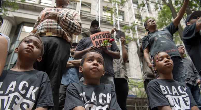 Children at Antwon Rose protests in Pittsburgh, PA