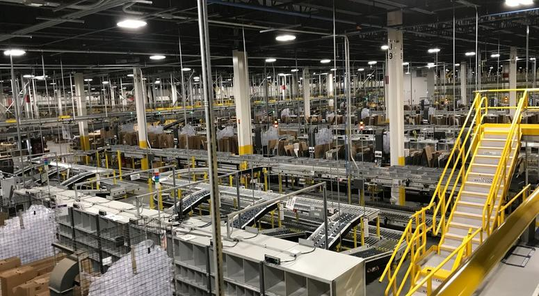 Gov. Phil Murphy toured the newest Amazon Edison Fulfillment Center Monday.