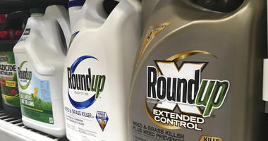 Roundup weed killer are displayed on a store shelf in San Francisco