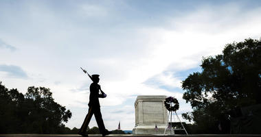 The Tomb of the Unknown Soldier in Arlington National Cemetery