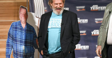 Jeff Bridges smiles during an appearance at Montana State University in Bozeman, Mont.,