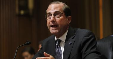 Health and Human Services Secretary Alex Azar speaks on Capitol Hill in Washington