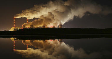 plumes of smoke rise from Europe's largest lignite power plant in Belchatow, central Poland