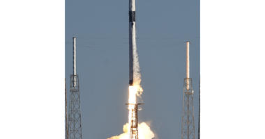 A SpaceX Falcon 9 rocket lifts off at the Cape Canaveral Air Force Station in Cape Canaveral, Fla., Sunday, Dec. 23, 2018.