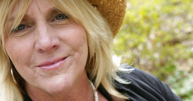 singer Pegi Young is photographed in New York's Central Park.