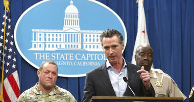 California Gov. Gavin Newsom, discusses his decision to withdraw several hundred National Guard troops from the nation's southern border and changing their mission
