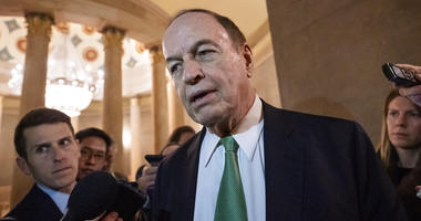 Sen. Richard Shelby, R-Ala., chair of the Senate Appropriations Committee, pauses for reporters as he and other senior bipartisan House and Senate negotiators try to strike a border security compromise in hope of avoiding another government shutdown, at t