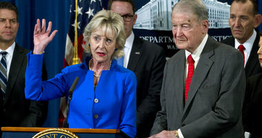 Lynda Webster accompanied by her husband former FBI director and the CIA director William Webster