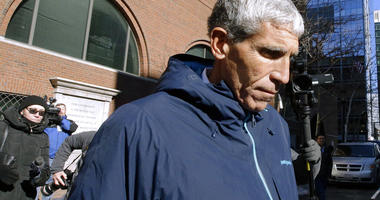 """William """"Rick"""" Singer founder of the Edge College & Career Network, departs federal court in Boston on Tuesday, March 12, 2019, after he pleaded guilty to charges in a nationwide college admissions bribery scandal."""