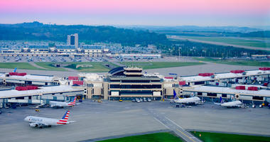 Airside from tower at Pittsburgh International Aiport