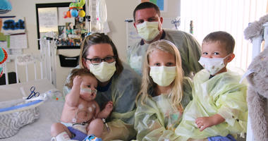 Amazing 5-month-old Becomes One Of The Youngest Heart and lung Transplant Recipients