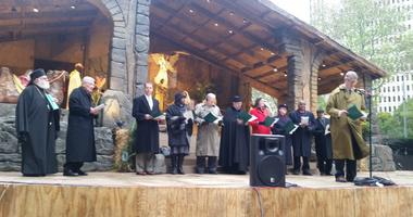 Religious leaders came together at Steel Plaza in downtown Pittsburgh for the Blessing of the Creche ceremony.