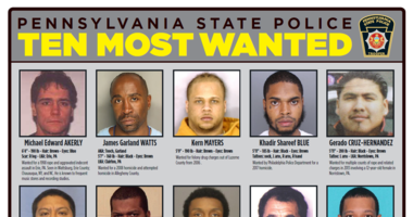 PA State Police Top Ten Most Wanted