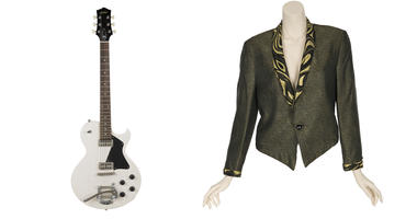 Prince Guitar, Madonna Jacket And More Rock And Roll Collectibles Up For Auction