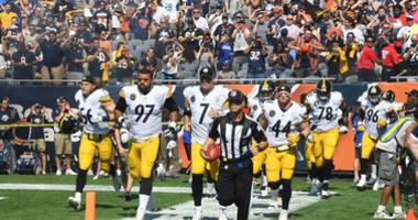 Steelers Running Out To Field