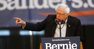 2020 Democratic presidential candidate Sen. Bernie Sanders speaks during a rally, Saturday, March 9, 2019, at the Iowa state fairgrounds in Des Moines, Iowa