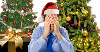 Man Stressed During The Holidays