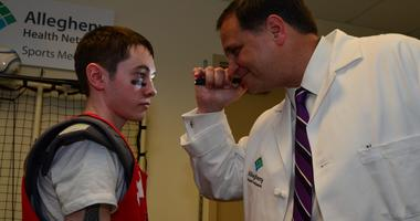 Allegheny Health Network's Dr. Ed Snell Examines a patient