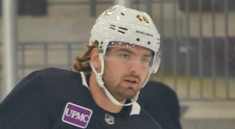 Penguins forward Zach Aston-Reese in training camp in 2018