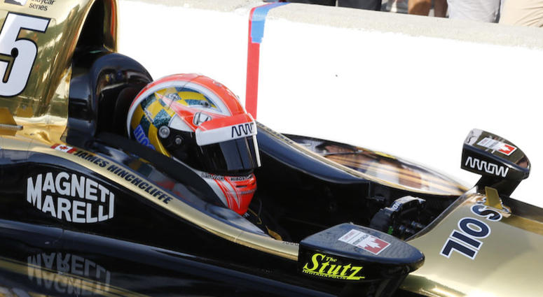 James Hinchcliffe Sits On Pit Road At Indy After Failing To Qualify For Indy 500