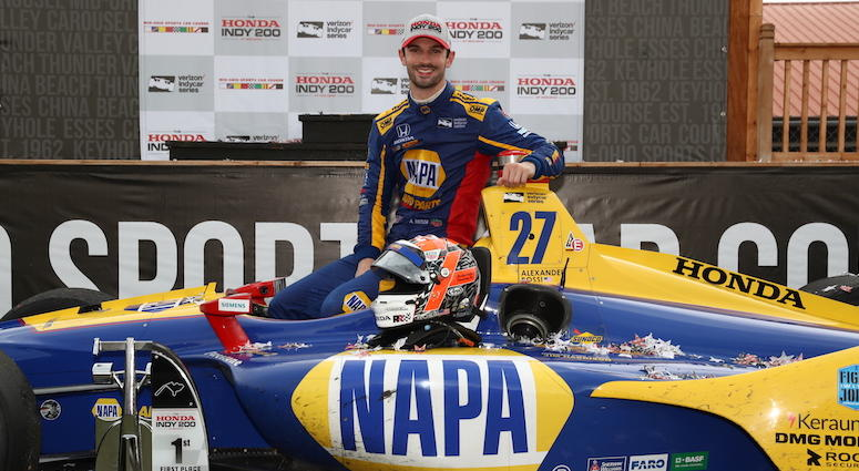 Alexander Rossi In Victory Lane At Mid-Ohio