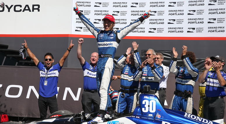 Takuma Sato Takes Rahal, Letterman, Lanigan Racing Back To Victory Lane At Portland