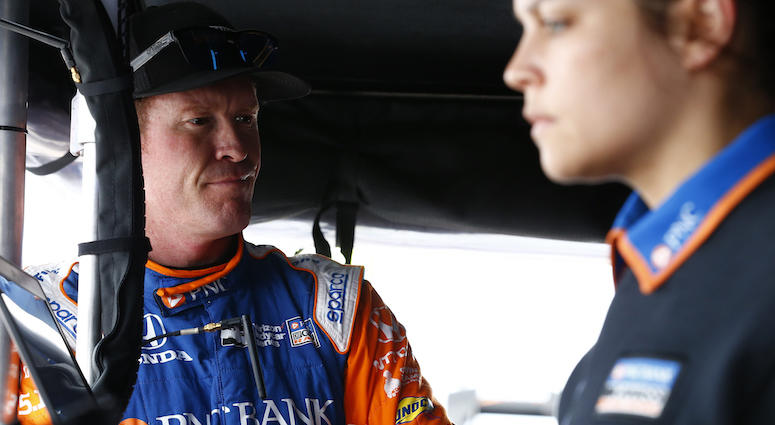 PNC Bank Chip Ganassi Racing Driver Scott Dixon And Assistant Engineer Kate Gundlach