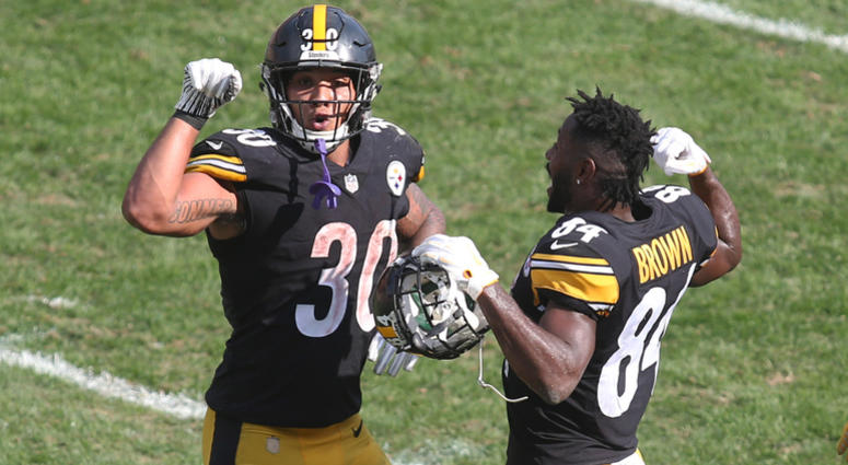 Antonio Brown and James Conner