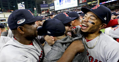 Boston Red Sox celebrate World Series-bound