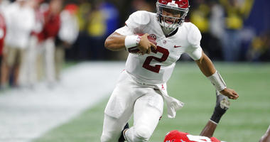 Alabama quarterback Jalen Hurts
