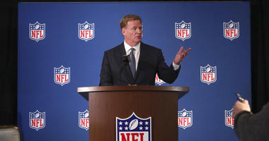 NFL commissioner Roger Goodell speaks to reporters during a news conference after the football leagues' meeting in Irving, Texas, Wednesday, Dec. 12, 2018