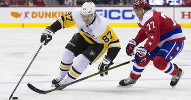 Pittsburgh Penguins center Sidney Crosby and Washington Capitals right wing T.J. Oshie